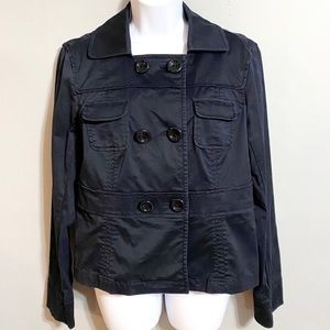 Ann Taylor Cotton Double Breasted Jacket